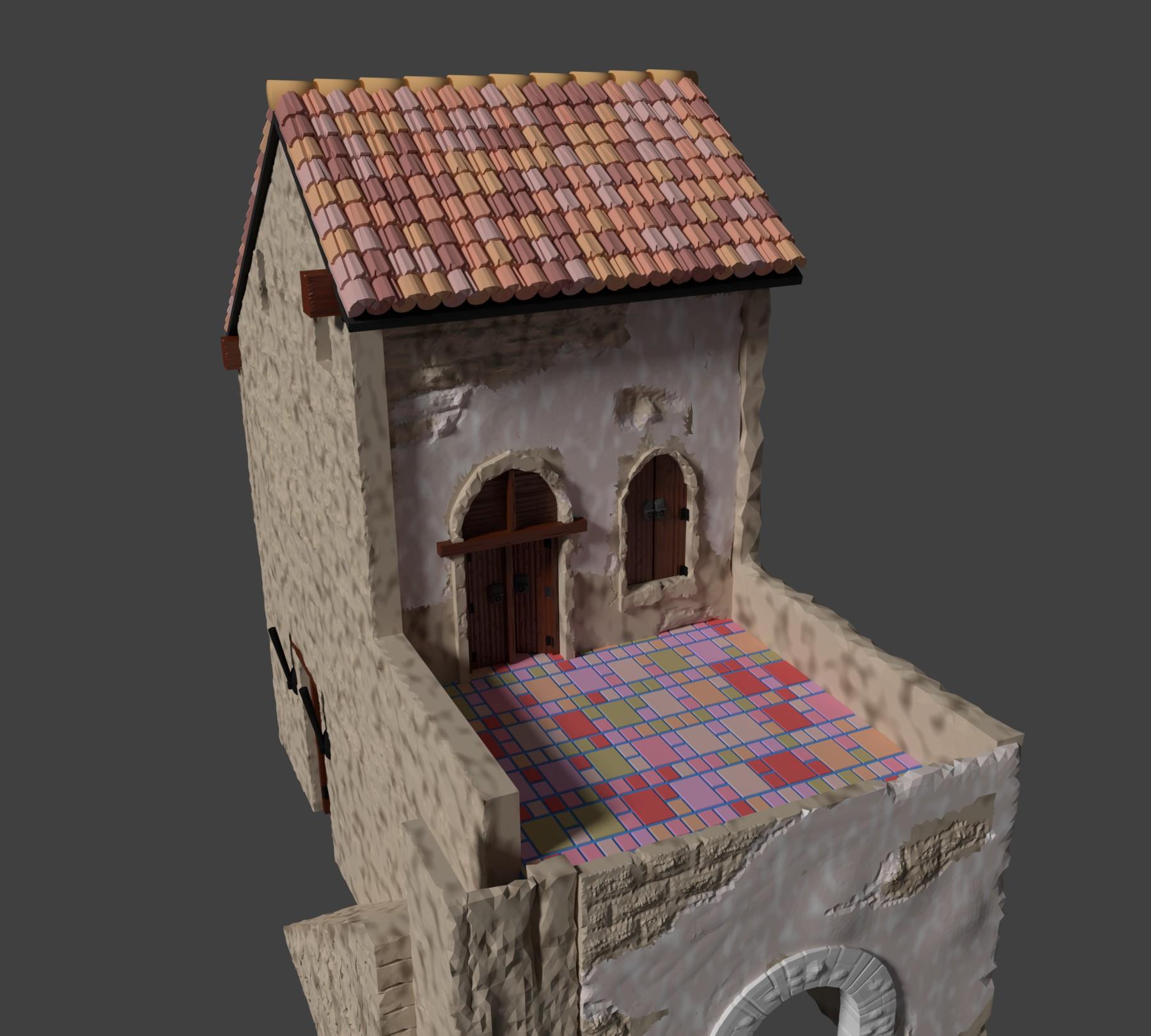 Casa rustica para dioramas modelo 3d
