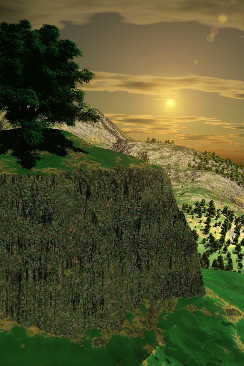 Ilustración de paisaje montaña