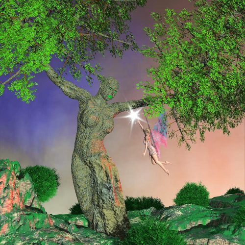 Árbol mujer y Hada del bosque